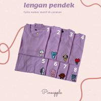 Kaos Bts Anak Warna Lilac Kaos Anak Baju Bts - lengan panjang, 12-13th