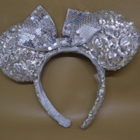 bando headband minnie mouse sequin original disneyland