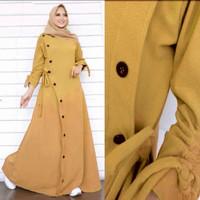 pakaian wanita muslim gamis maxi zaarah bahan kain baloteli
