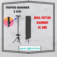 Tripod banner 2 sisi / standing banner