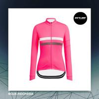 COOLMAX Rapha Brevet Women Long Jersey PINK - Baju Sepeda Wanita ACM - S