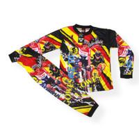 setelan baju cross jersey anak setelan baju trail size 1-12thn