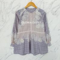 Atasan Batik Dobby 71 Baju blouse batik wanita modern Olenka Closet