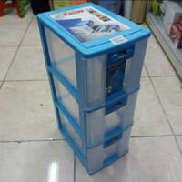 Pressa Container CD Susun 3 XL3 PR23 Lion Star Laci Kotak Obat Plastik