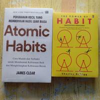 Paket 2 Buku Atomic Habits dan The Power of Habit