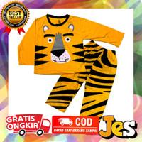 Baju setelan panjang anak laki-laki singa kuning usia 1-10Tahun Ready