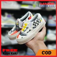 Sepatu Anak Vans Slip On Moma Vans SLop Anak Laki-Laki Grade Original