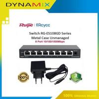 RUIJIE REEYEE RG-ES108GD 8 Port Gigabit Unmanaged Switch - Metal Case