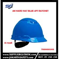 3M H-703R Hard Hat, Blue 4 Pt Ratchet Su (Pack. 1/20/20)-7000002416