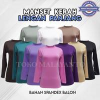 Manset Baju kebaya Lengan Panjang SPANDEK BALOON/BAHAN LICIN TDK KUSUT