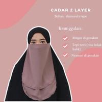 CADAR 2 LAYER BAHAN DIAMOND CREPE 2IN1 MUSLIMAH - Coksu