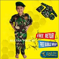 Baju Profesi Anak Tentara Seragam Anak TNI Setelan Seragam Kostum