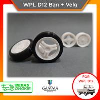 WPL D12 Velg Ban Drift Upgrade Suzuki Carry - PNP Hex - Type 1, Lebar 19mm