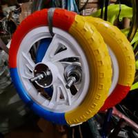 roda mati ban buta ukuran 12 sepeda anak depan belakang