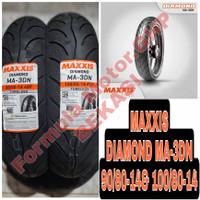 90/80-14 & 100/80-14 Maxxis Diamond MA-3DN Sepasang Ban Motor Ring 14