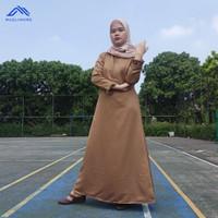 Muslimore - Baju Gamis Wanita Warna Khaki Pemda Balotelli Syari Murah