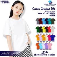 Kaos Polos ANAK Wanita Perempuan Lengan Pendek Soft Katun Kombed 3os - 2 Tahun