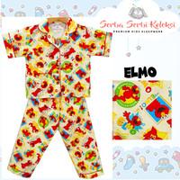 Piyama Anak Katun / Baju Tidur Anak Katun Elmo