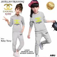 21538 Baju Setelan Pakaian Olahraga Anak Perempuan CHL KIDS Full BORDI