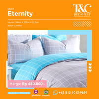 Bed Cover Set T&C Bed Sheet Eternity Blue