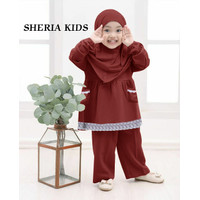 Sheryl Kids Baju Setelan Muslim 3 In 1 Anak Perempuan Usia 4 - 5 Tahun