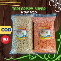 ikan teri krispi crispy kualitas super camilan khas madura 1 kg