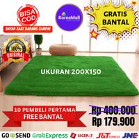 Karpet bulu KOREA IMPORT 200x150 (BONUS BANTAL) rasfur surpet TERMURAH