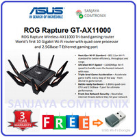 ASUS AX11000 Tri-band WiFi Gaming Router 10Gb ROG Rapture GT-AX11000