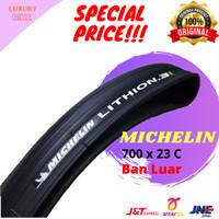 Michelin Lithion 3 Ban Luar Sepeda 700 x 23 C Kevlar Hitam