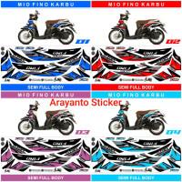 Sticker Striping Mio Fino Karbu Sporty 2012-2013 Semifullbody Variasi