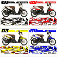 Stiker Striping Mio Fino Karbu Sporty 2012-2013 Variasi