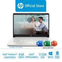 HP 14s-cf2508TU Laptop/Pentium Gold 6405U/8GB/IntelUHD/512GBSSD - Gold