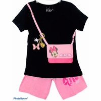 Setelan kaos baju anak perempuan size 1 2 3 4 5 6 7 8 9 10 tahun #2291