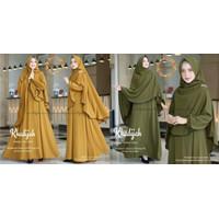 Baju gamis wanita syari Khodijah set gamis Wanita muslimah 2021