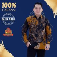 Baju Batik Pria Cowok Lengan Panjang Kasual Slimfit Premium Jumbo - pendek, M