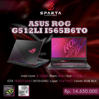 Laptop Gaming New Asus Rog G512LI I565B6TO Termurah Bergaransi Resmi