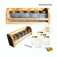 Tempat Bumbu Dapur Kayu Set 5 Pcs