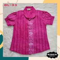 Kemeja Batik Anak Perempuan Baju Pink Hem Cewek Usia 3-14 tahun BL33