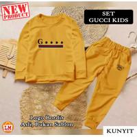 LM 20838 Baju Setelan Pakaian Olahraga Anak Perempuan GCI KIDS Bordir