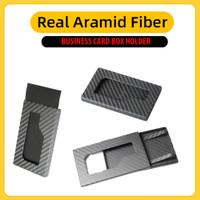 Case Business Card Holder REAL ARAMID CARBON (Bukan PITAKA)