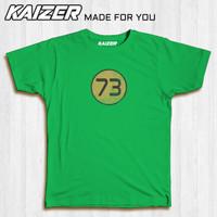 KAIZER RH-1558 Kaos Sheldon Cooper 73 The Big Bang Theory Vintage