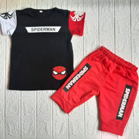 Wirles Setelan Spiderman Baju Anak Laki-laki Usia 1-5 Tahun