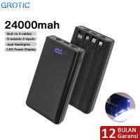 GROTIC Powerbank 24000mAh 6 Output 3 Input 2.1A Power Bank GY60
