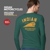 Kaos Lengan Panjang Indian Motorcycles Bikers Racing Forest Green - XL