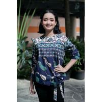 Atasan Wanita/Blus Batik Warna Biru