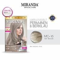 Miranda Hair Color (Cat Rambut Permanen) MC16 Ash Blonde 30ml