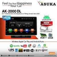 Head unit Android Asuka AK 2000 Universal 10 inci Ram 4gb Rom 32gb
