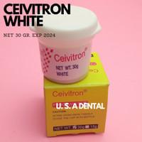 DENTAL CEIVITRON 30 GRAM PINK & WHITE / BAHAN TAMBAL GIGI SEMENTARA - WHITE