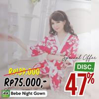 Piyama Seksi Baju Tidur Kimono Sexy Lingerie G-String Wnita Merah KL02