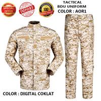 Baju Set BDU Army-BDU Tactical Uniform-Cambat Miltary Set AOR-1 D.Cok